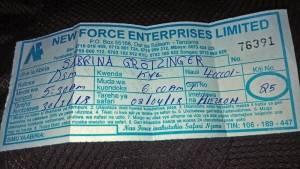 Deine Reiselust | New Force | Busticket von Dar es Salaam nach Kyela