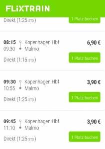 Mit dem Flixbus nach Malmö