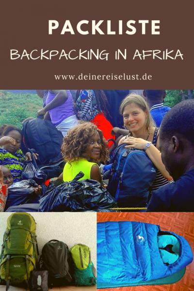 Packliste - Backpacking in Afrika