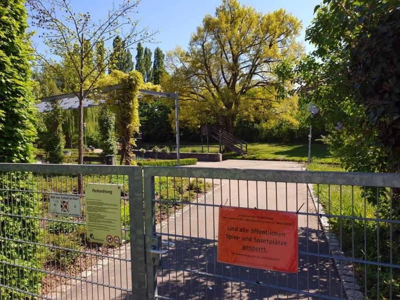 Der Park in Nordheim ist wegen Corona gesperrt