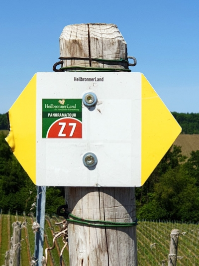 Wegweiser Z7 Panoramatour Heuchelberg